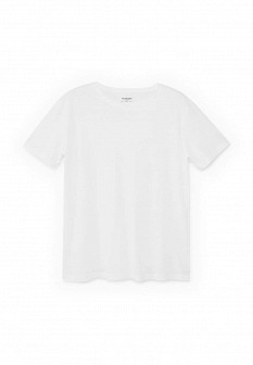 Мужская белая футболка MANGO MAN