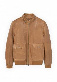 Мужская коричневая куртка MANGO MAN