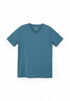 Мужская бирюзовая осенняя футболка