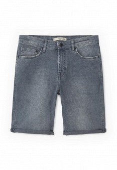 Мужские серые осенние джинсовые шорты