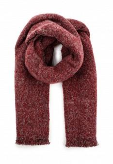 Мужской бордовый осенний шарф