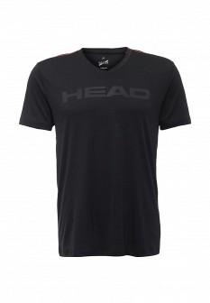 Мужская черная осенняя спортивная футболка