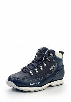 Женские синие осенние кожаные ботинки из нубука