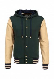 Мужская бежевая зеленая утепленная осенняя куртка