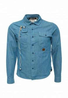 Мужская бирюзовая джинсовая рубашка