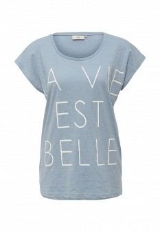 Женская голубая футболка ICHI