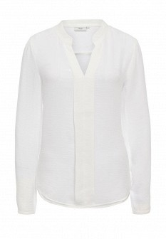 Белая осенняя блузка ICHI