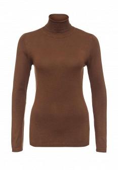 Женская коричневая осенняя водолазка