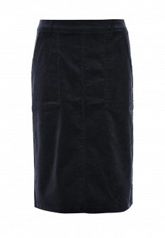 Синяя осенняя юбка ICHI