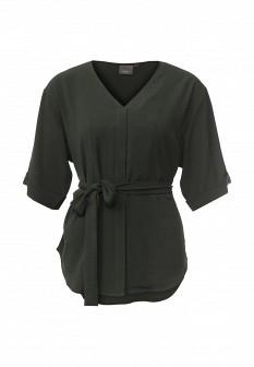 Зеленая осенняя блузка ICHI