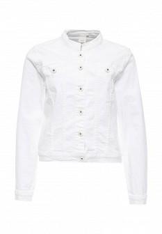 Женская белая осенняя джинсовая куртка