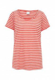 Женская коралловая футболка ICHI