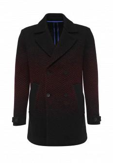 Мужское бордовое итальянское осеннее пальто