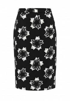 Черная осенняя юбка