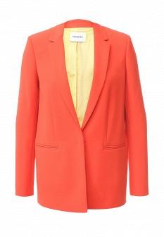 Женский оранжевый осенний жакет