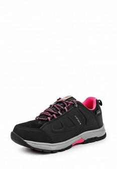 Женские черные осенние кожаные трекинговые ботинки