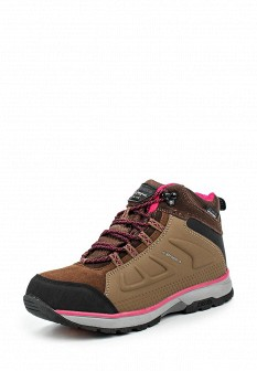 Женские коричневые осенние кожаные трекинговые ботинки