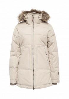 Женская бежевая утепленная осенняя куртка