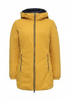 Женская желтая синяя утепленная осенняя куртка