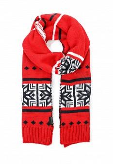 Мужской красный осенний шарф