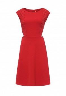 Красное итальянское платье