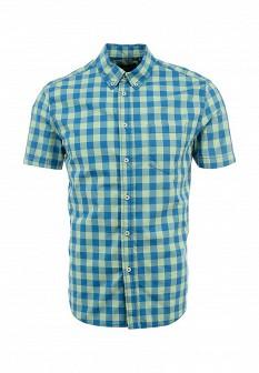 Мужская зеленая синяя рубашка