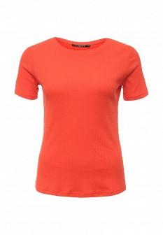 Женская оранжевая коралловая футболка