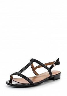 Женские черные сандалии на каблуке