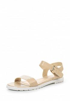 Женские бежевые осенние кожаные сандалии
