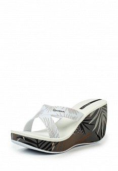 Женские белые сабо на каблуке на платформе