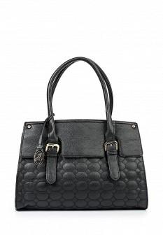 Женская черная кожаная сумка