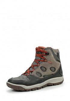 Мужские серые осенние кожаные ботинки