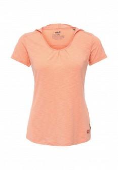 Женская коралловая футболка Jack Wolfskin