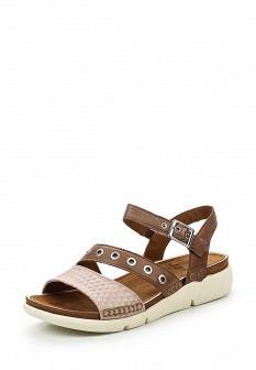 Женские коричневые кожаные сандалии
