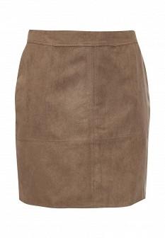 Коричневая осенняя юбка JUNAROSE