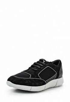 Мужские черные итальянские осенние кожаные кроссовки