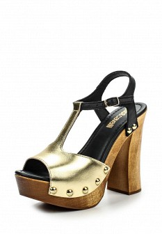 Женские итальянские кожаные босоножки на каблуке на платформе