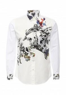 Мужская белая рубашка Just Cavalli