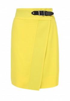 Желтая итальянская осенняя юбка