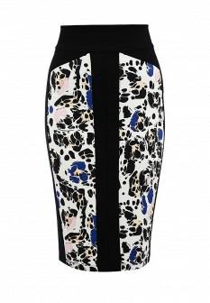 Черная итальянская осенняя юбка