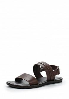 Мужские коричневые итальянские кожаные сандалии