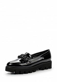 Женские кожаные лаковые туфли лоферы на платформе