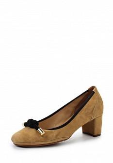 Женские коричневые испанские туфли на каблуке