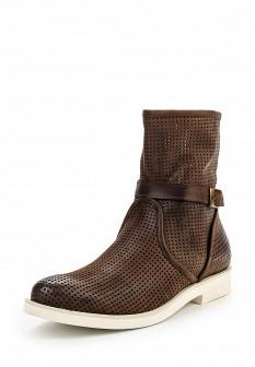 Женские коричневые итальянские осенние кожаные сапоги