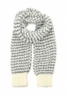 Женский белый черный осенний шарф