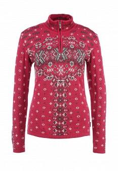 Женский розовый осенний свитер
