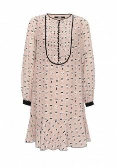 Бежевое осеннее платье Karl Lagerfeld