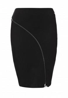 Черная осенняя юбка Karl Lagerfeld