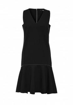 Черное осеннее платье Karl Lagerfeld