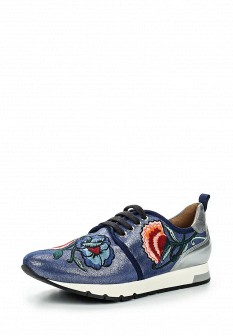 Женские синие испанские осенние кожаные кроссовки